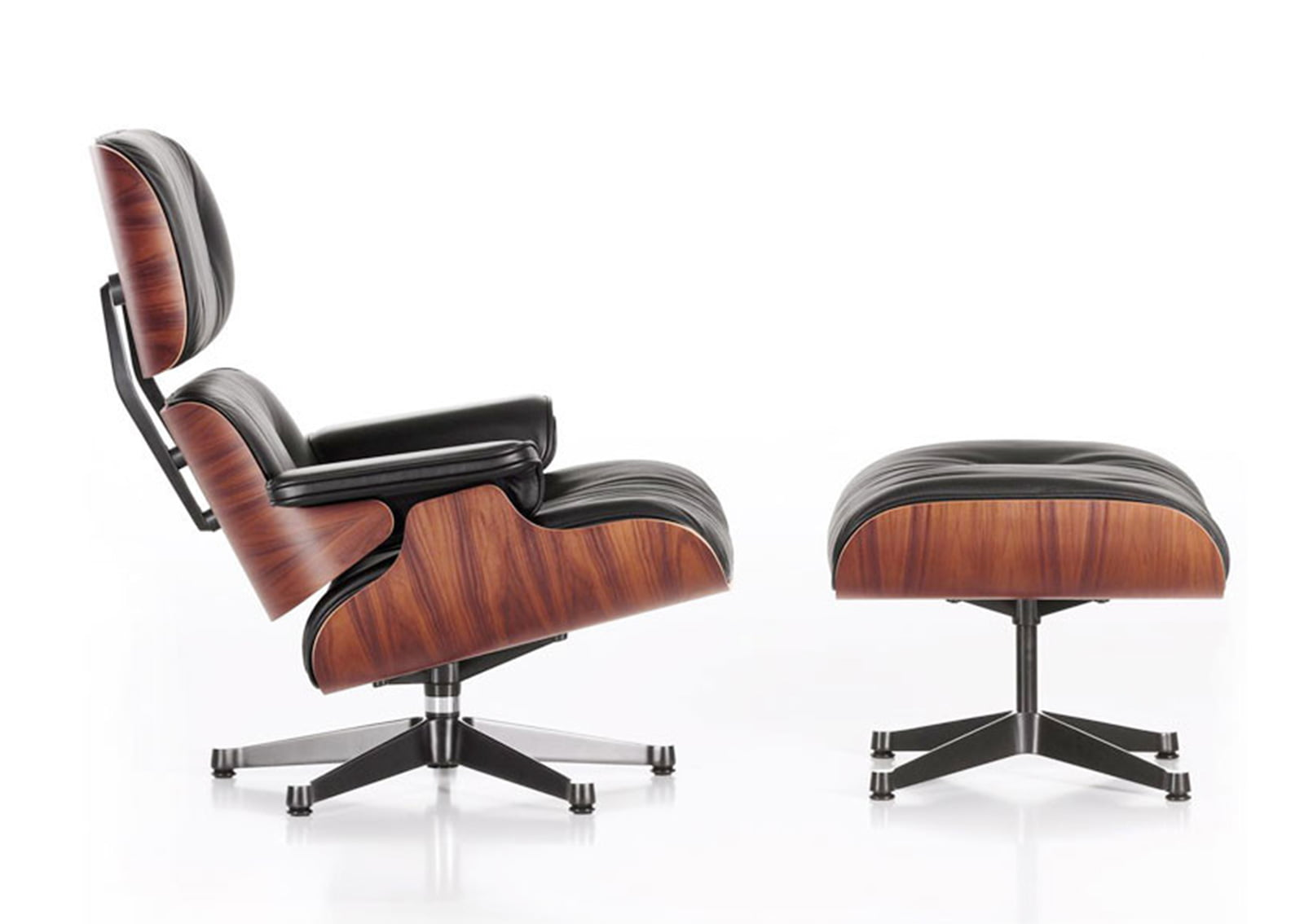Eames Lounge Stoel Replica.Eames Chairs Eames Lounge Chair With Ottoman Furnishplus