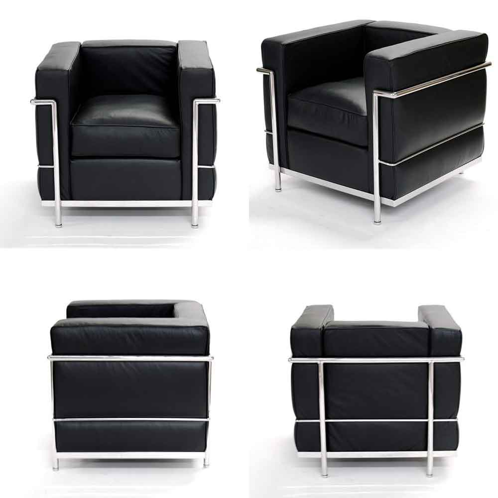 lc2 chair le corbusier modern furniture store. Black Bedroom Furniture Sets. Home Design Ideas