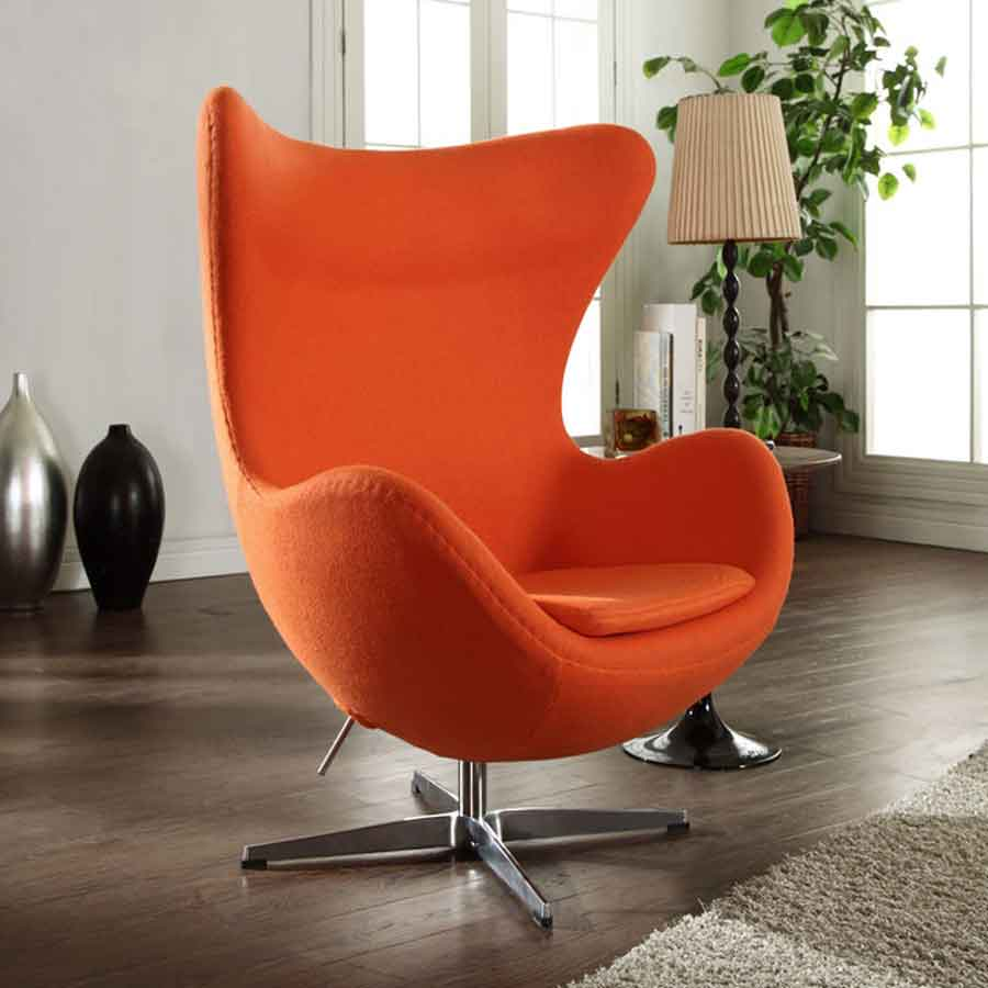 egg chair reproduction arne jacobsen mid century modern. Black Bedroom Furniture Sets. Home Design Ideas