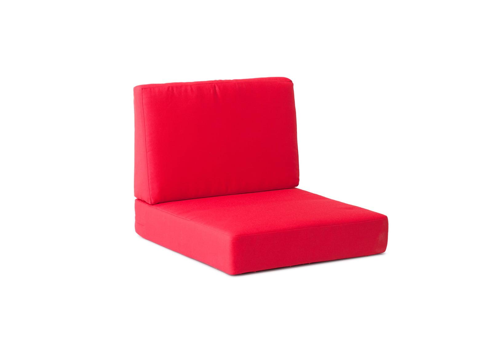 Cosmopolitan Arm Chair Cushions Red Furnishplus