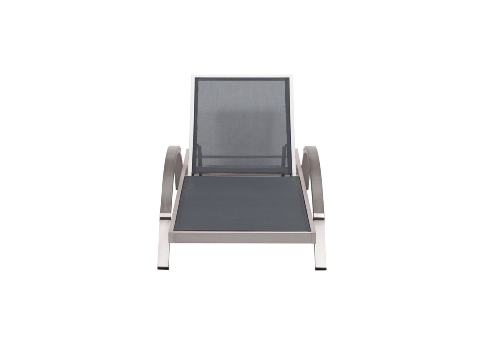 Metropolitan chaise lounge brushed aluminum furnishplus for Chaise aluminium