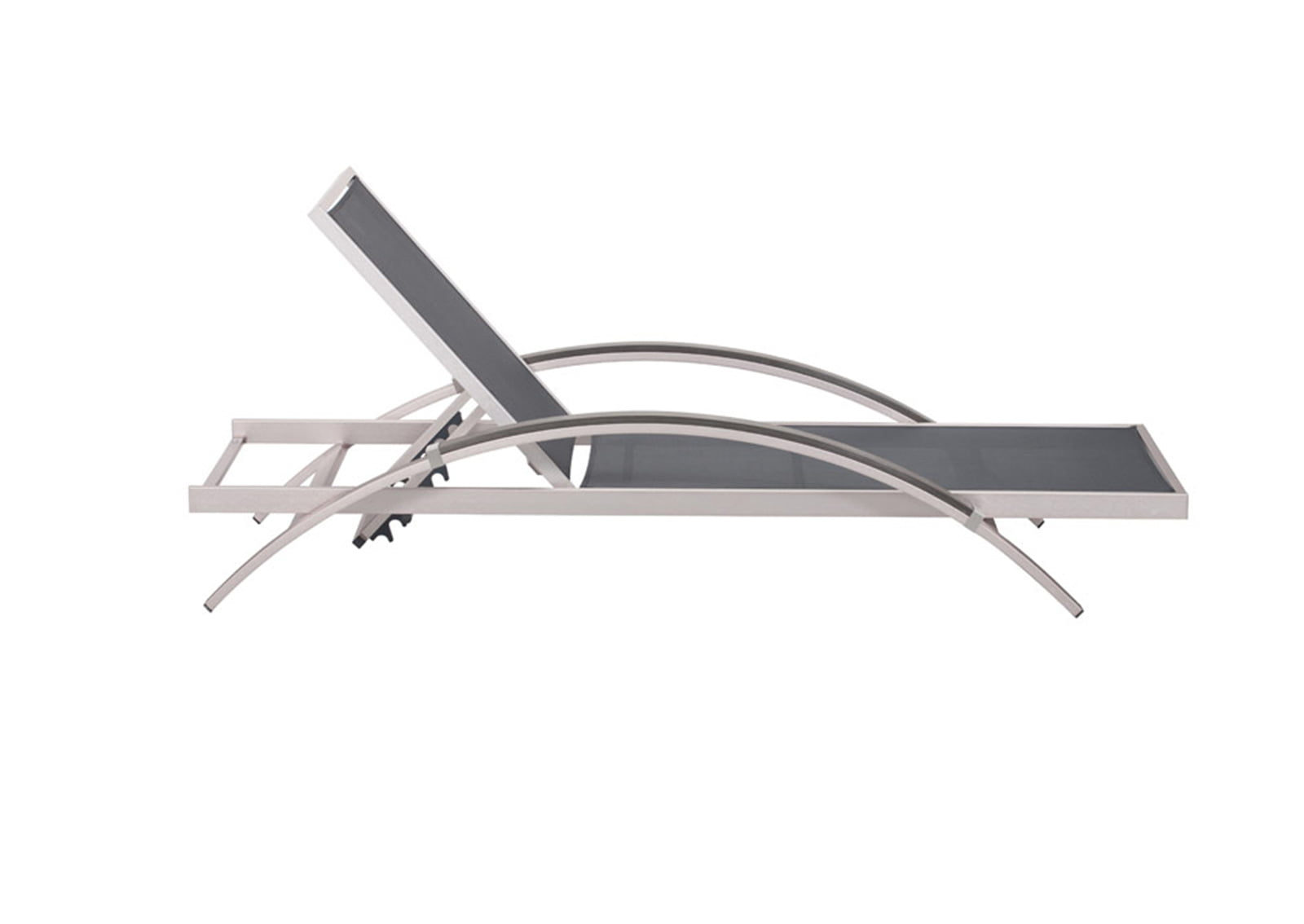 Metropolitan chaise lounge brushed aluminum furnishplus for Chaise lounge aluminum