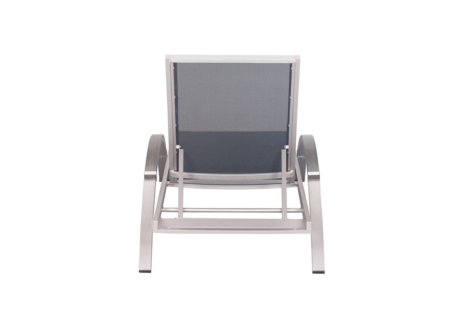 Metropolitan chaise lounge brushed aluminum furnishplus for Chaise aluminium