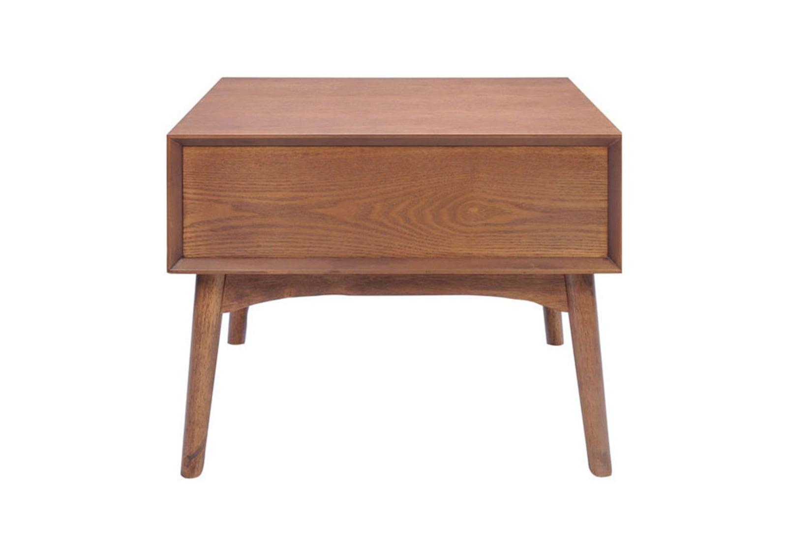 Design district side table walnut furnishplus for Walnut side table