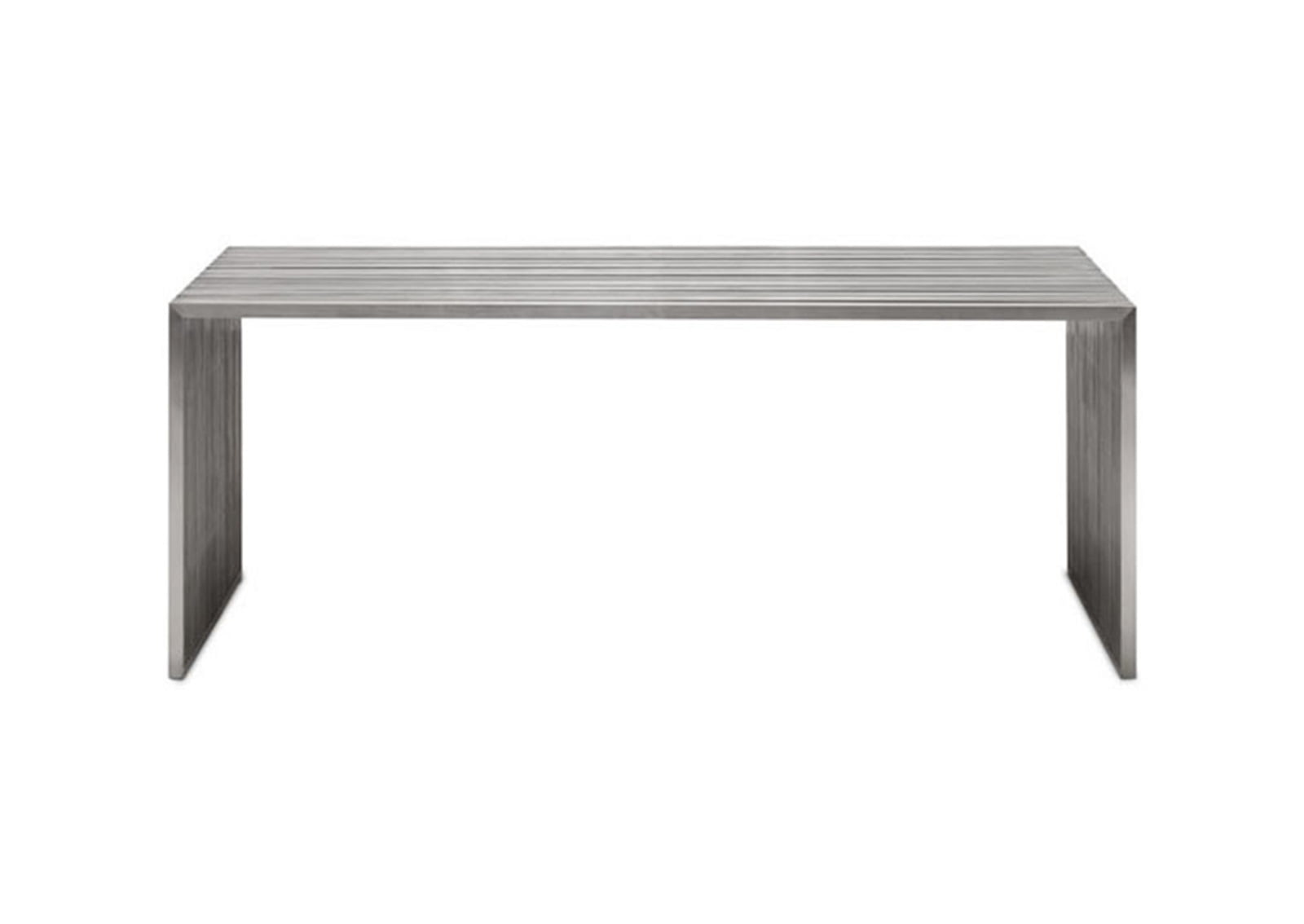 Novel dining table brushed stainless steel furnishplus for Stainless steel dining table