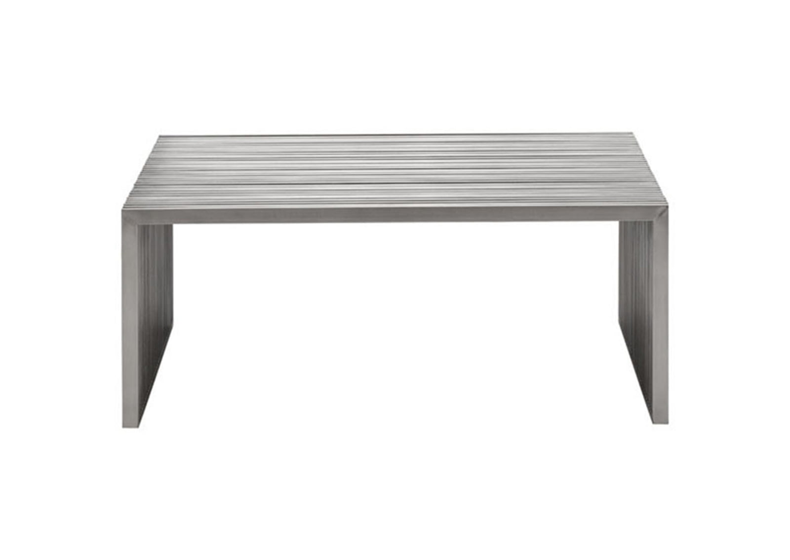 Novel Square Coffee Table Brushed Stainless Steel Furnishplus