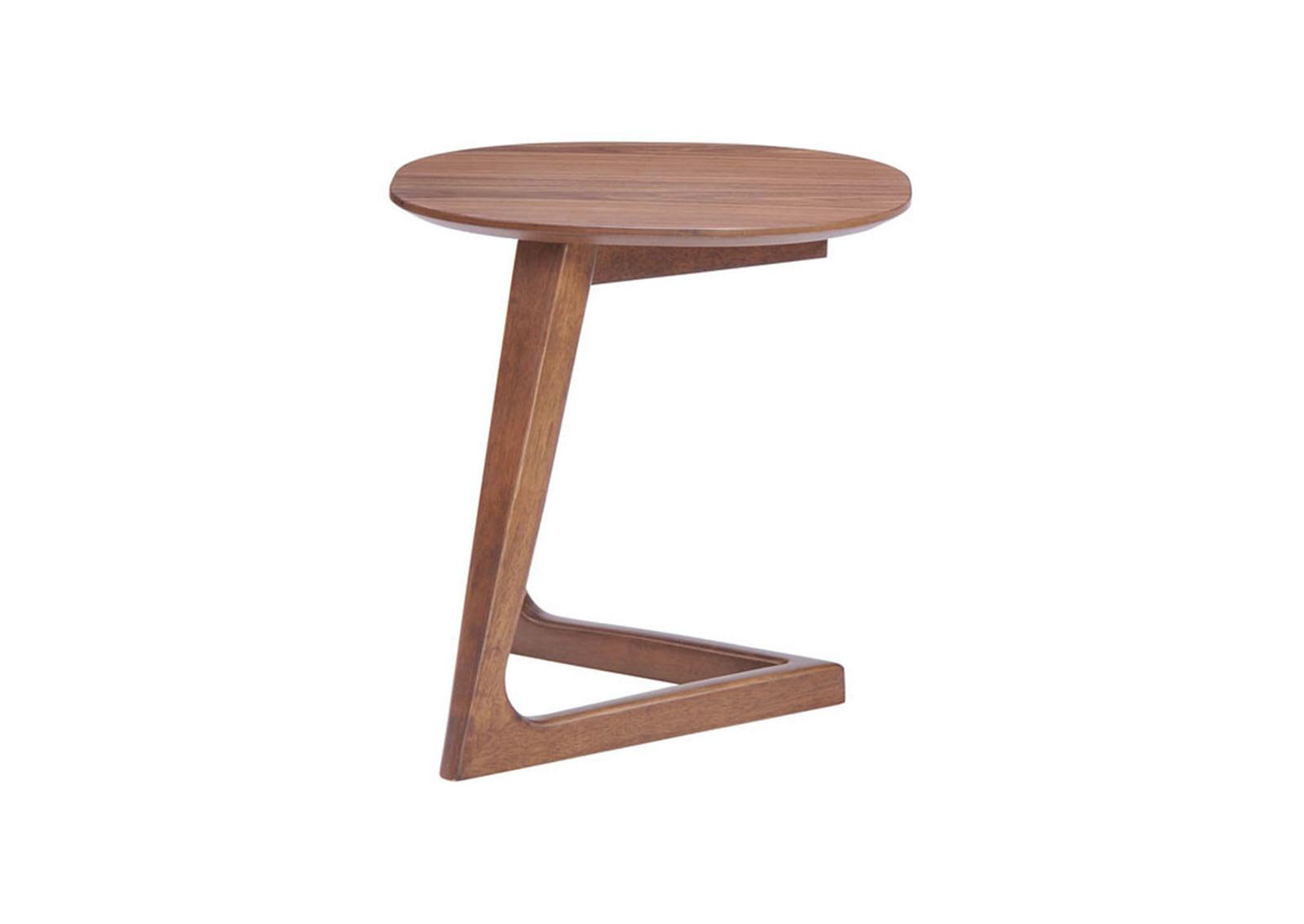 Park west side table walnut furnishplus for Walnut side table