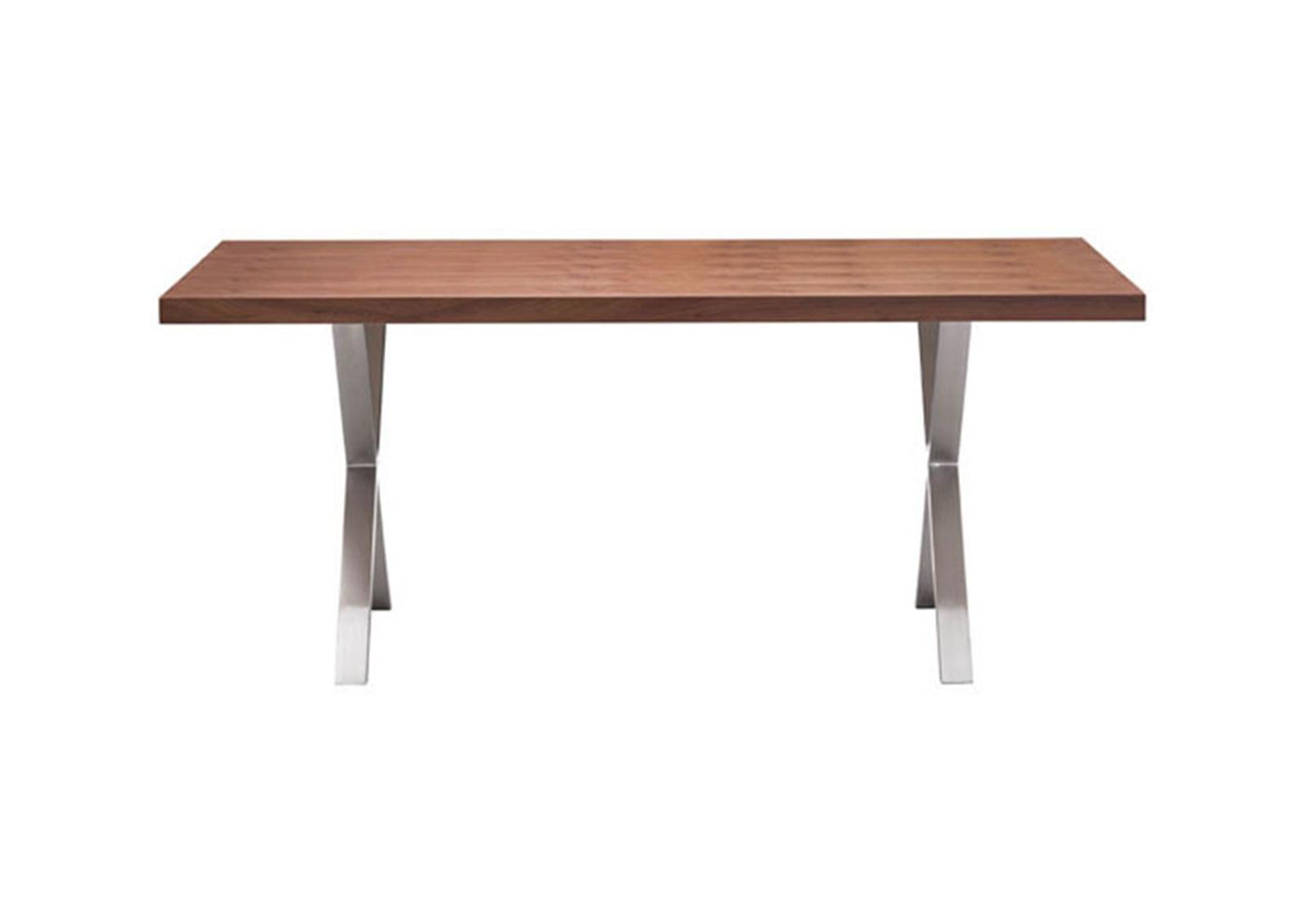 renmen dining table walnut furnishplus. Black Bedroom Furniture Sets. Home Design Ideas