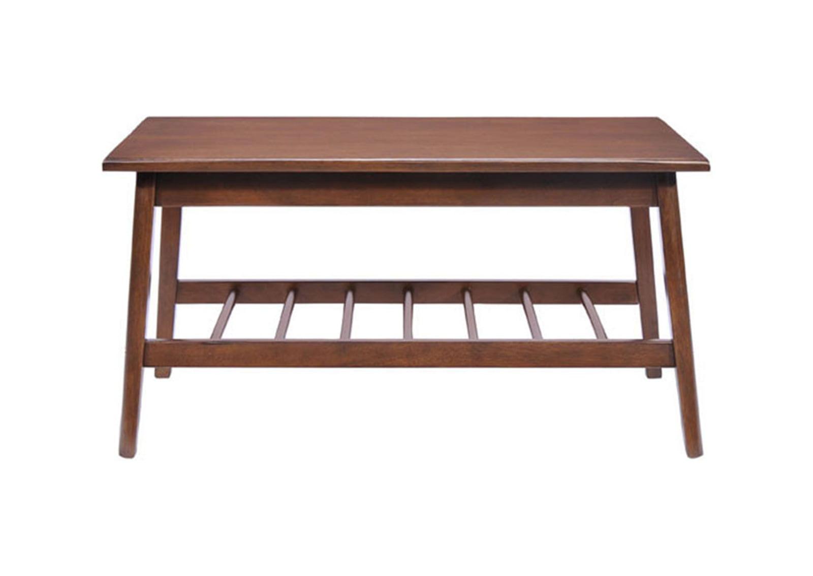 Aventura coffee table walnut furnishplus for Walnut coffee table