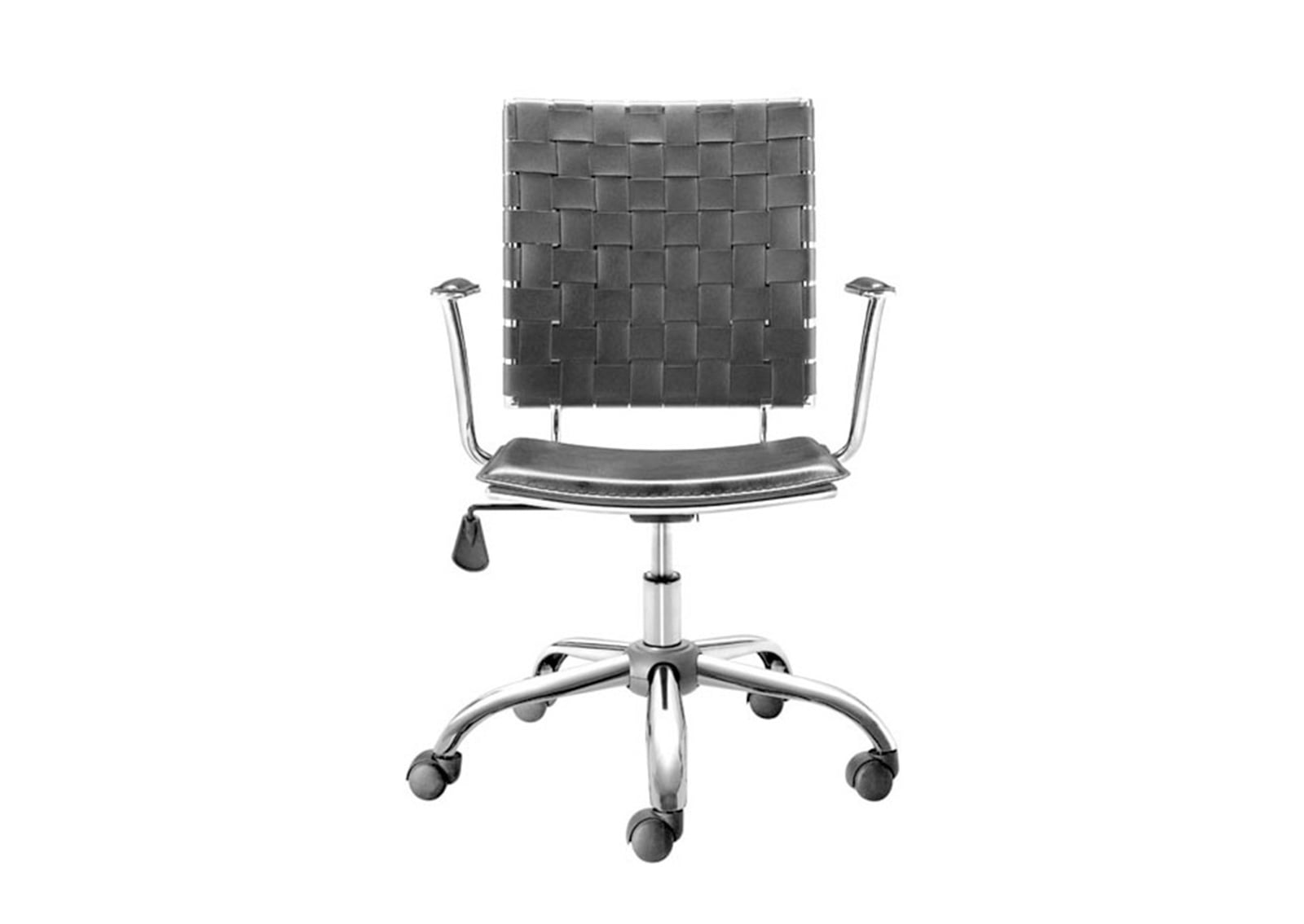 Criss Cross Office Chair Black Furnishplus