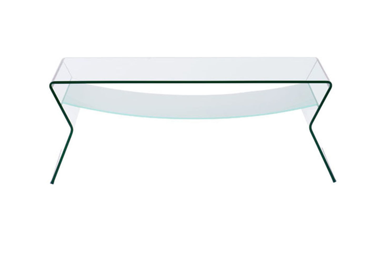 Yoga coffee table clear frosted furnishplus Clear coffee table