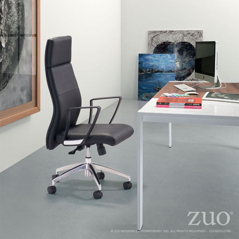 conductor high back office chair black furnishplus