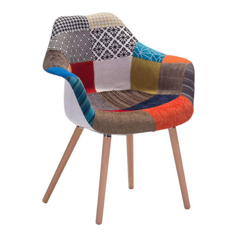 Safdie Occasional Chair Patchwork Multicolor Furnishplus