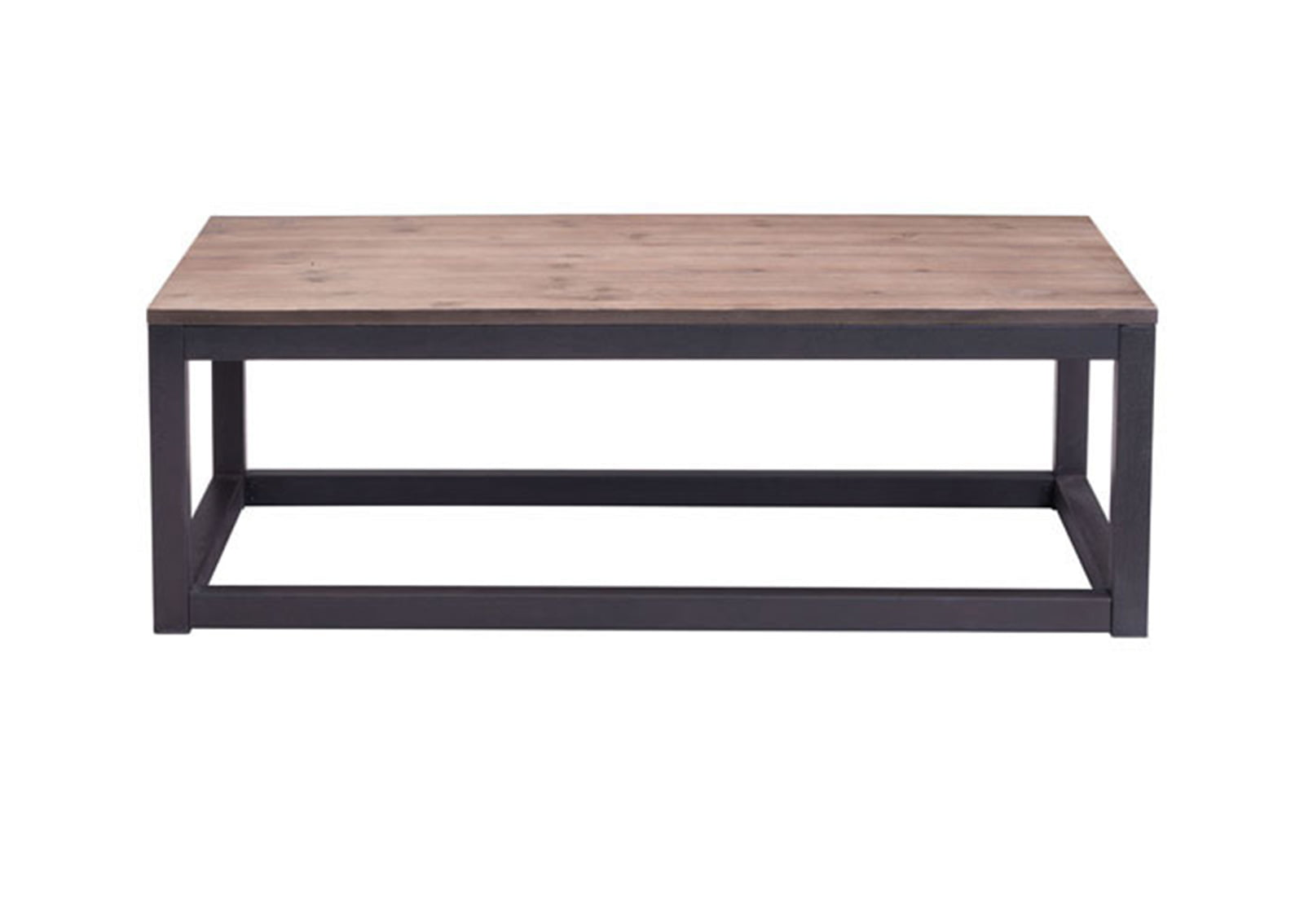 Civic Rectangular Coffee Table Distressed Natural Furnishplus