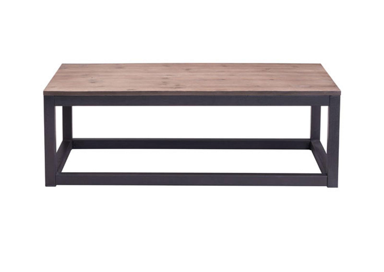 Civic Rectangular Coffee Table Distressed Natural Furnishplus