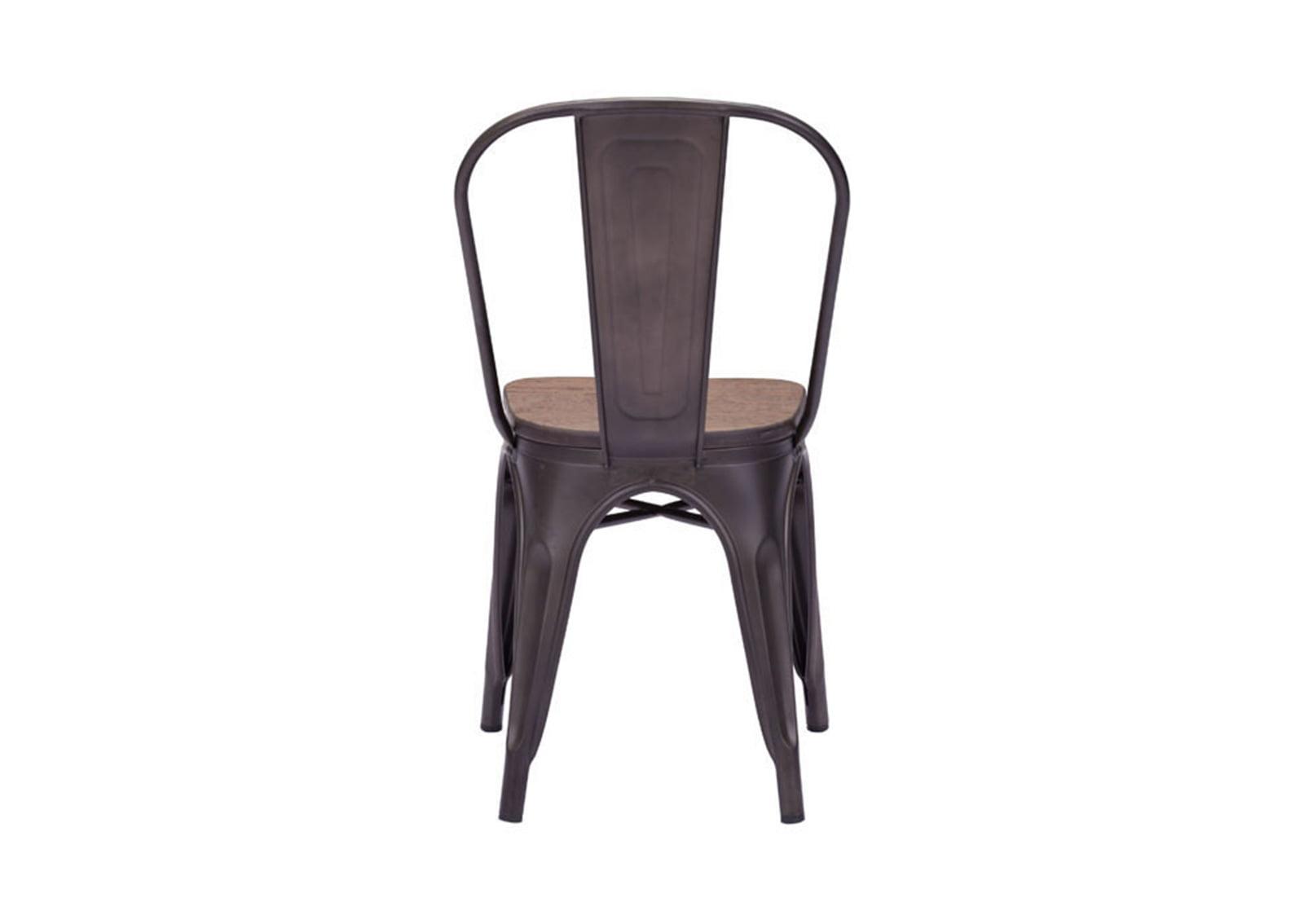 Elio Dining Chair Rustic Wood Furnishplus