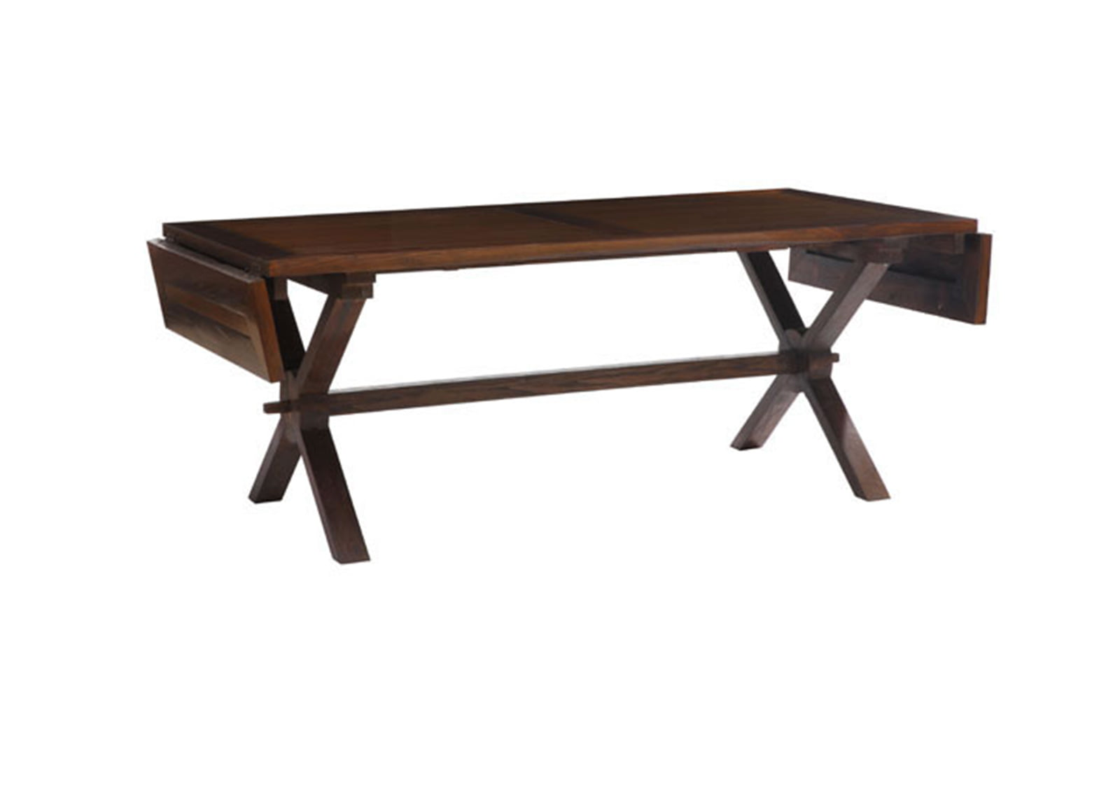 Laurel Heights Dining Table Distressed Natural FurnishPlus