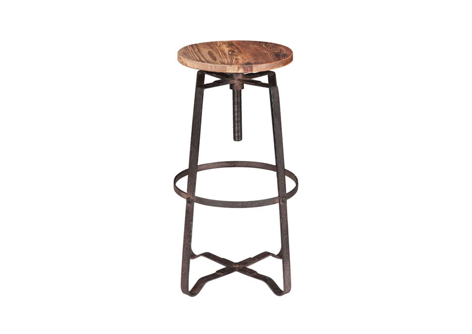 Wilde Barstool Distressed Natural Furnishplus
