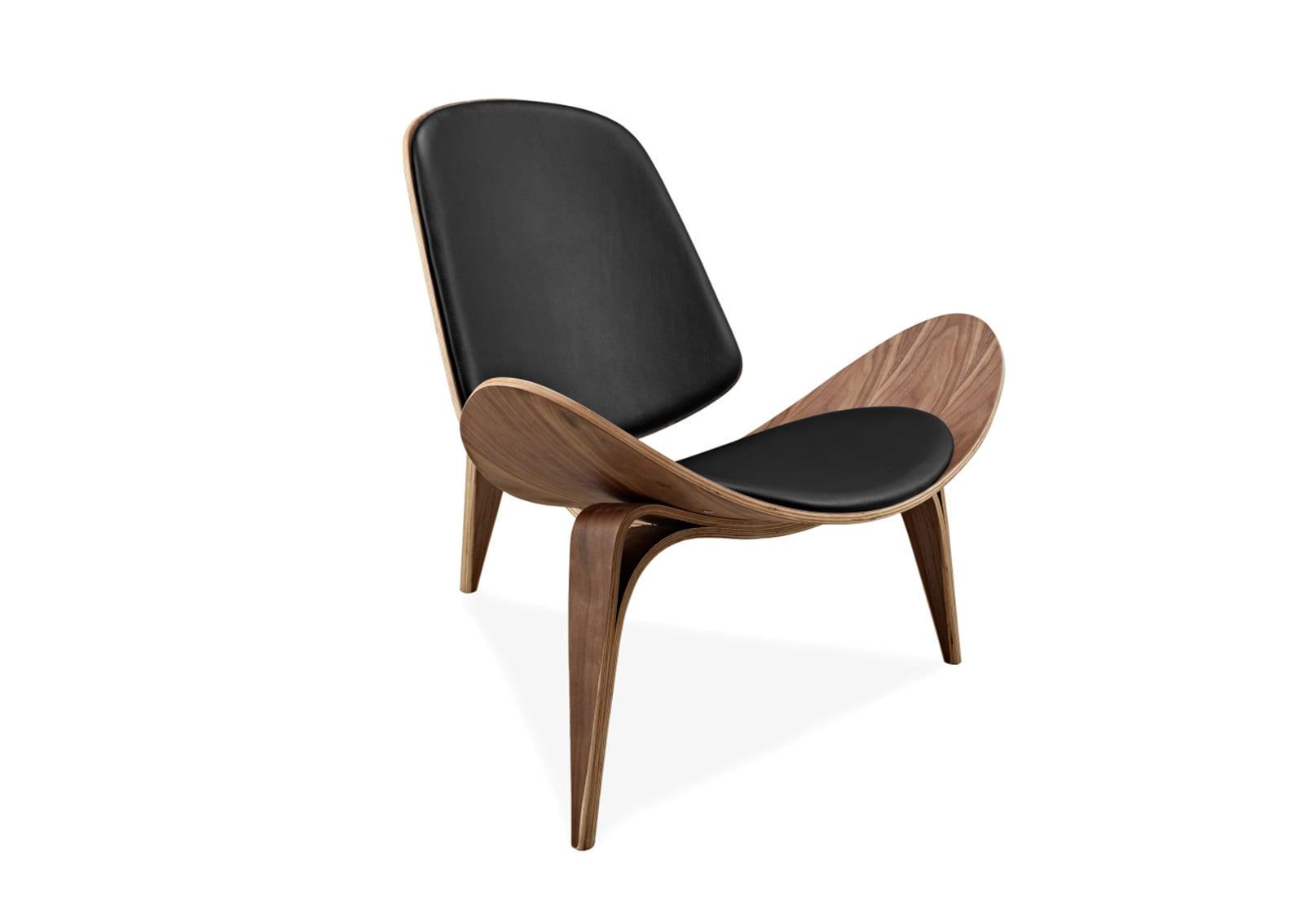 blk vinyl hans eei wal j products emfurn chair shell replica style wegner