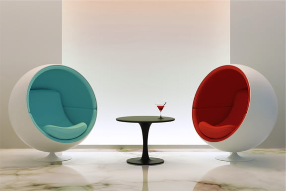 give your home a visual uplift with the iconic ball chair bubble chair