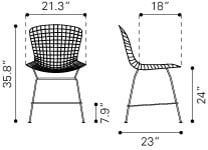 Harry Bertoia Counter Chair Style - Mid Century Modern Furniture
