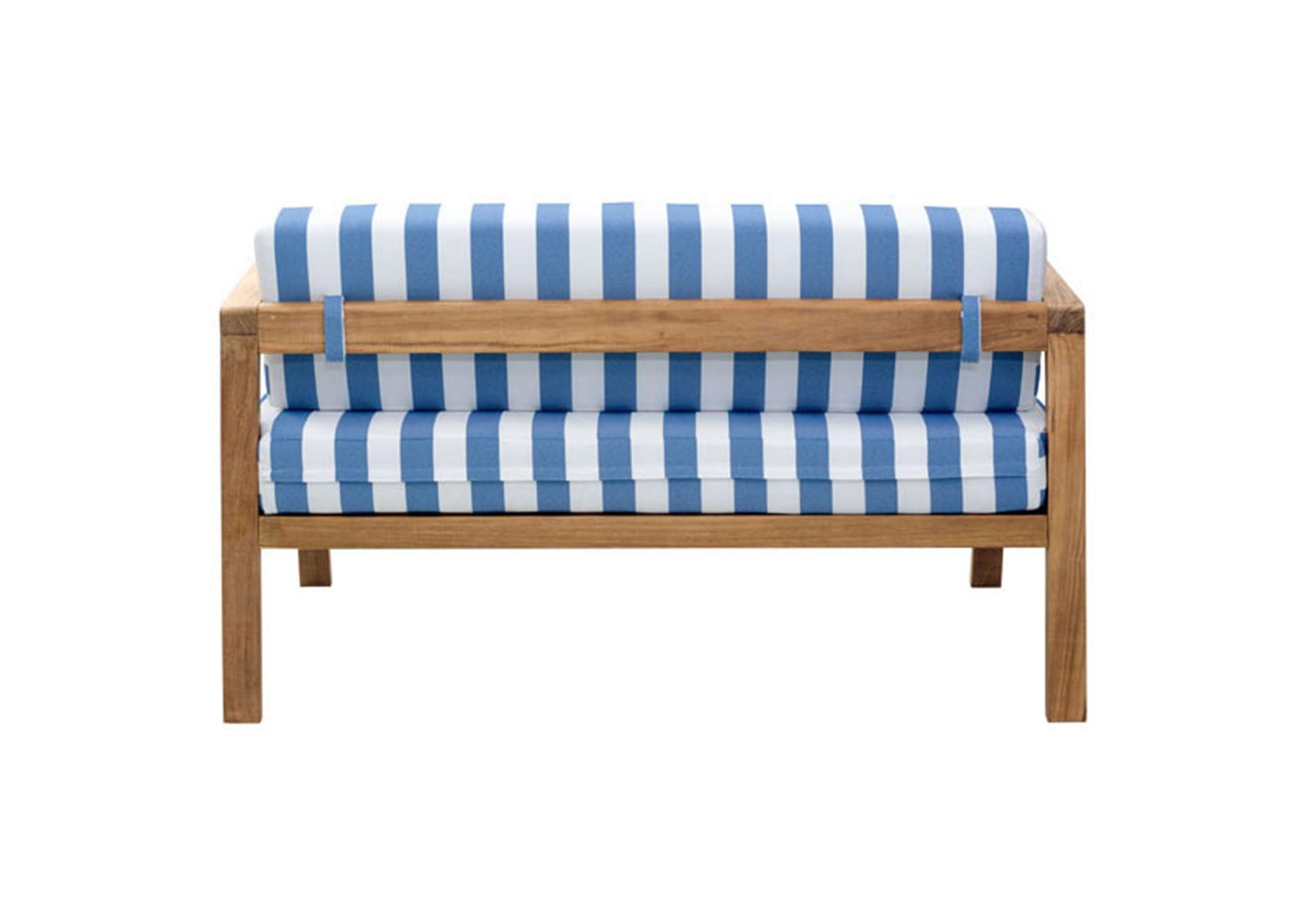 Bilander sofa cushion blue white furnishplus for Blue and white sofa