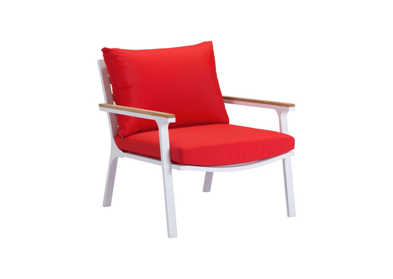 Maya Beach Arm Chair Red Natural Amp White Furnishplus