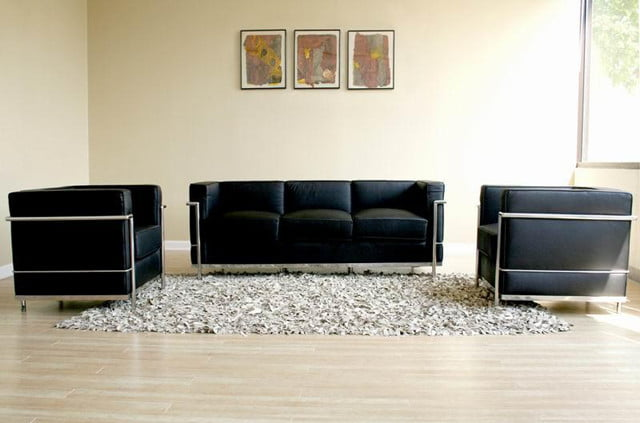 le corbusier sofa the two seater sofa. Black Bedroom Furniture Sets. Home Design Ideas