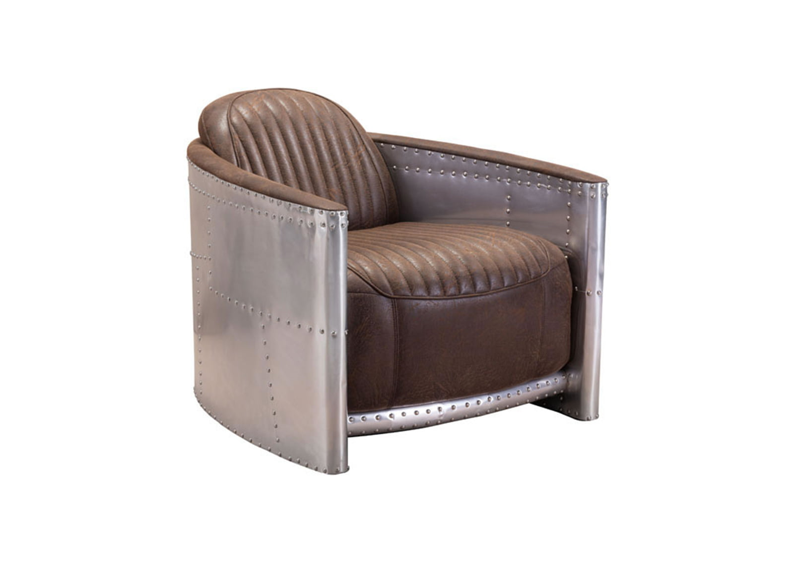 Fate-Occasional-Chair-Brown-&-Aluminum1