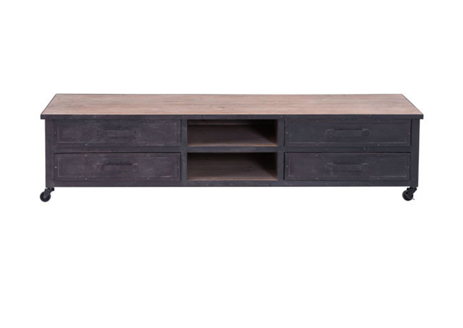 Fort Mason TV Stand Distressed Natural