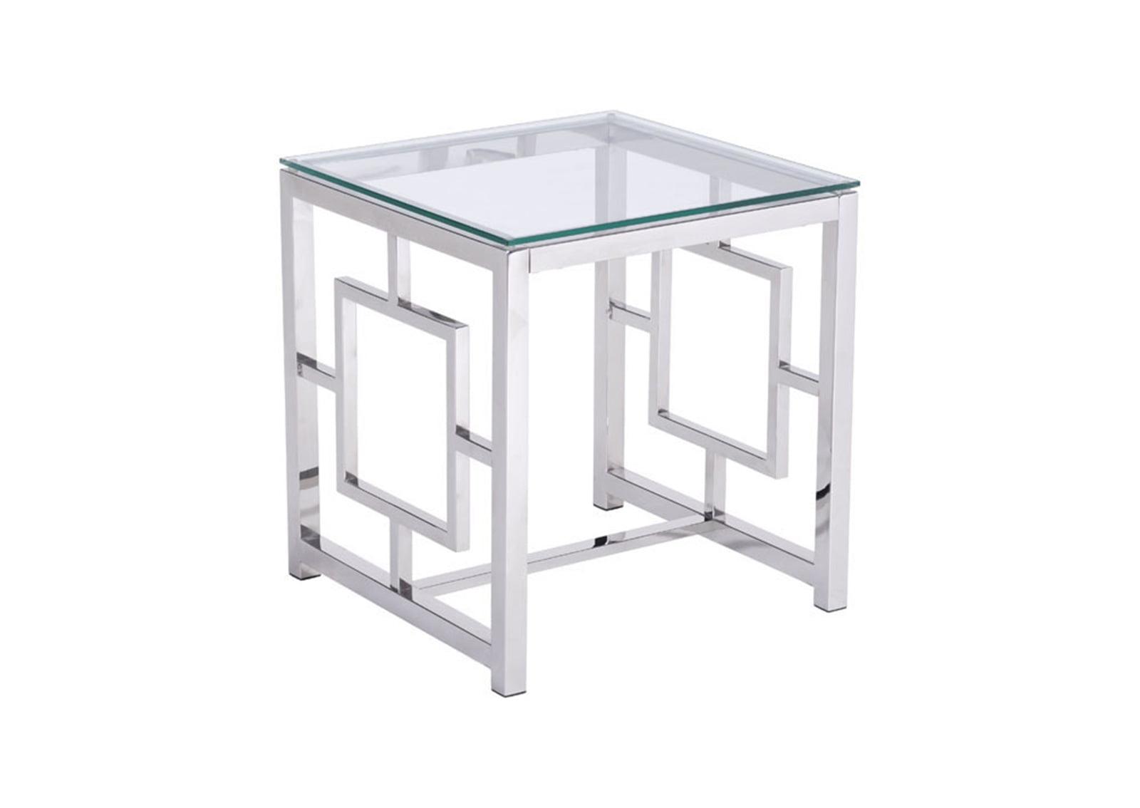Geranium Side Table Stainless Steel Furnishplus