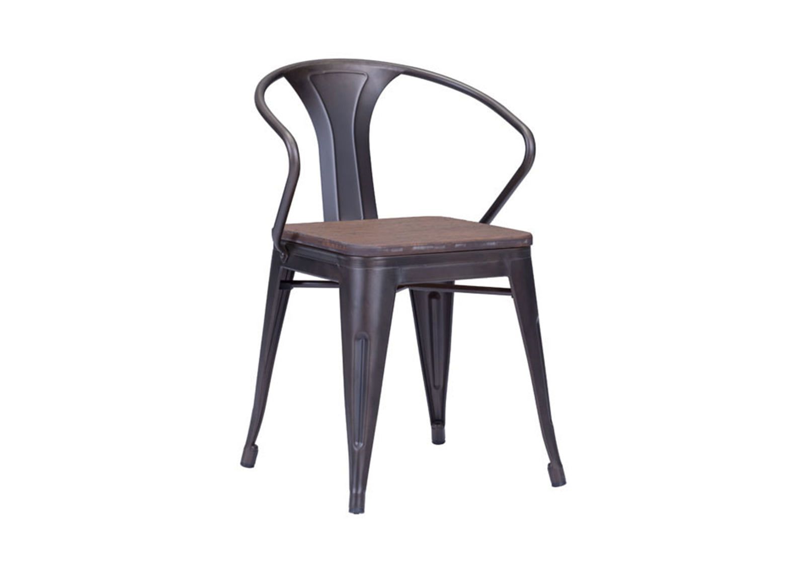 Helix dining chair rustic wood furnishplus