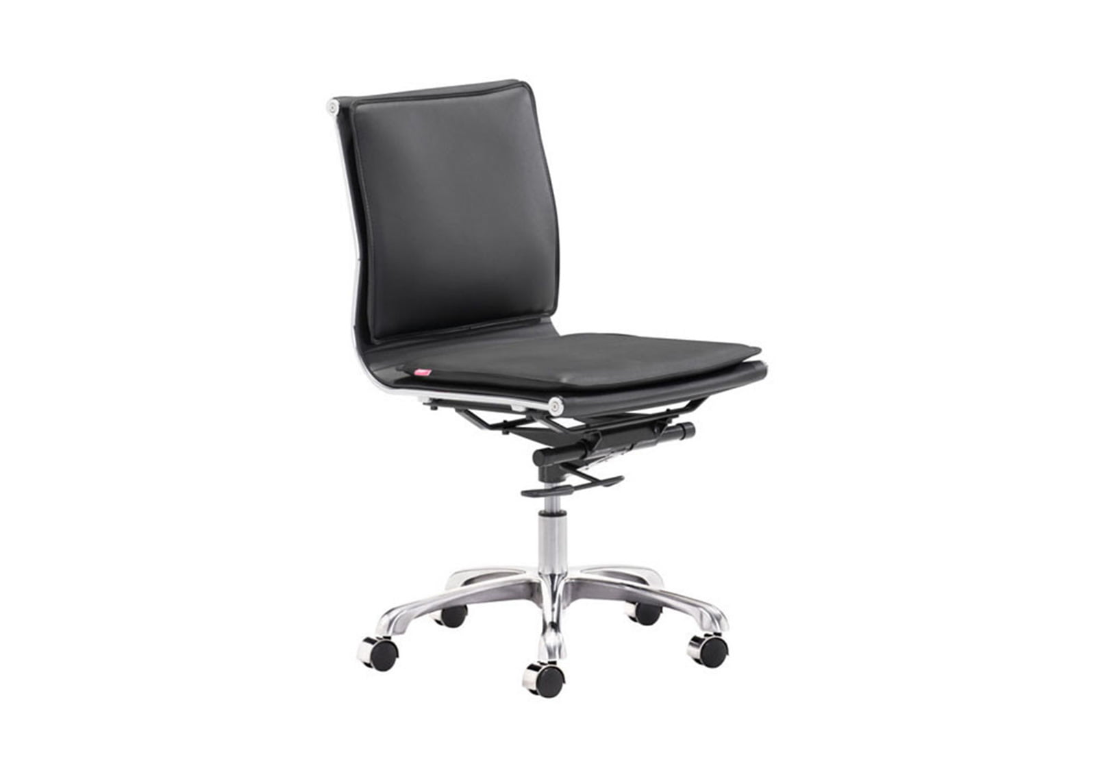 Lider plus armless office chair black furnishplus for Armless office chairs