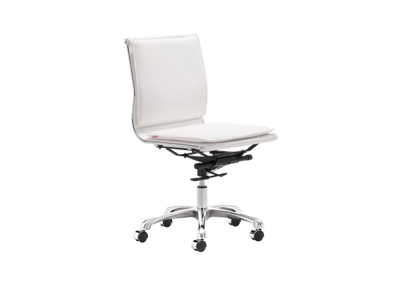 lider plus armless office chair white furnishplus