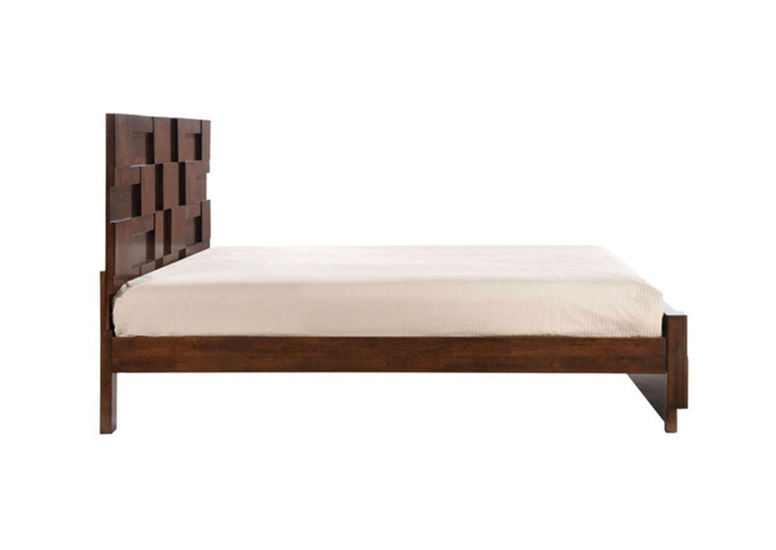 San Diego Queen Bed Walnut Furnishplus