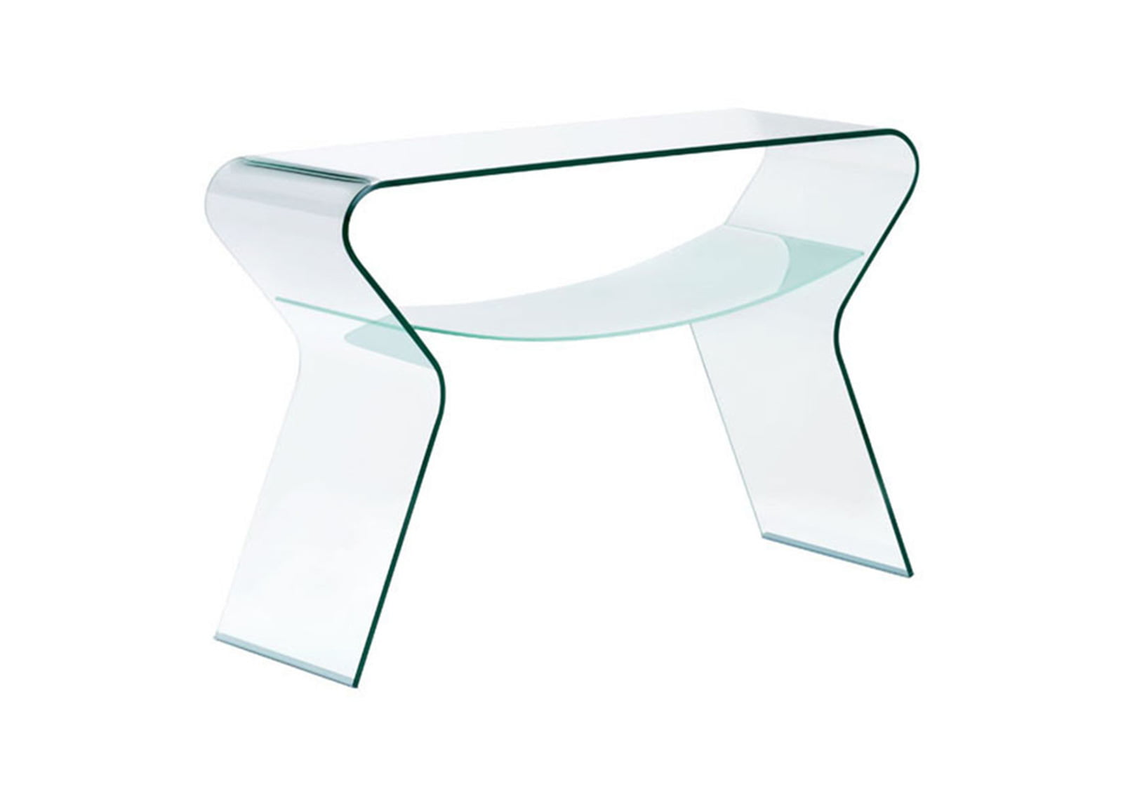 Yoga Console Table Clear Frosted1 Furnishplus # Meuble Tv Yoga