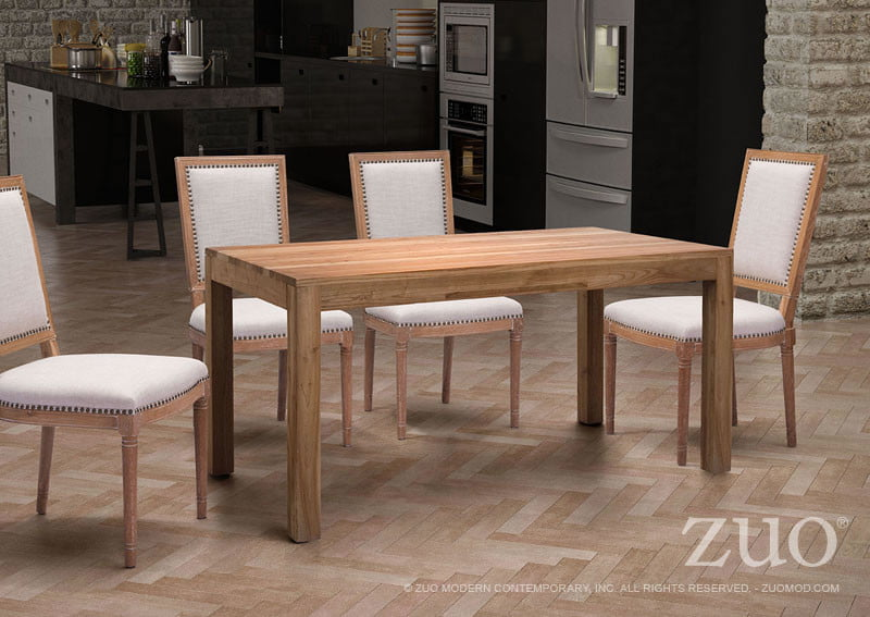 Fillmore Dining Table Distressed Natural FurnishPlus