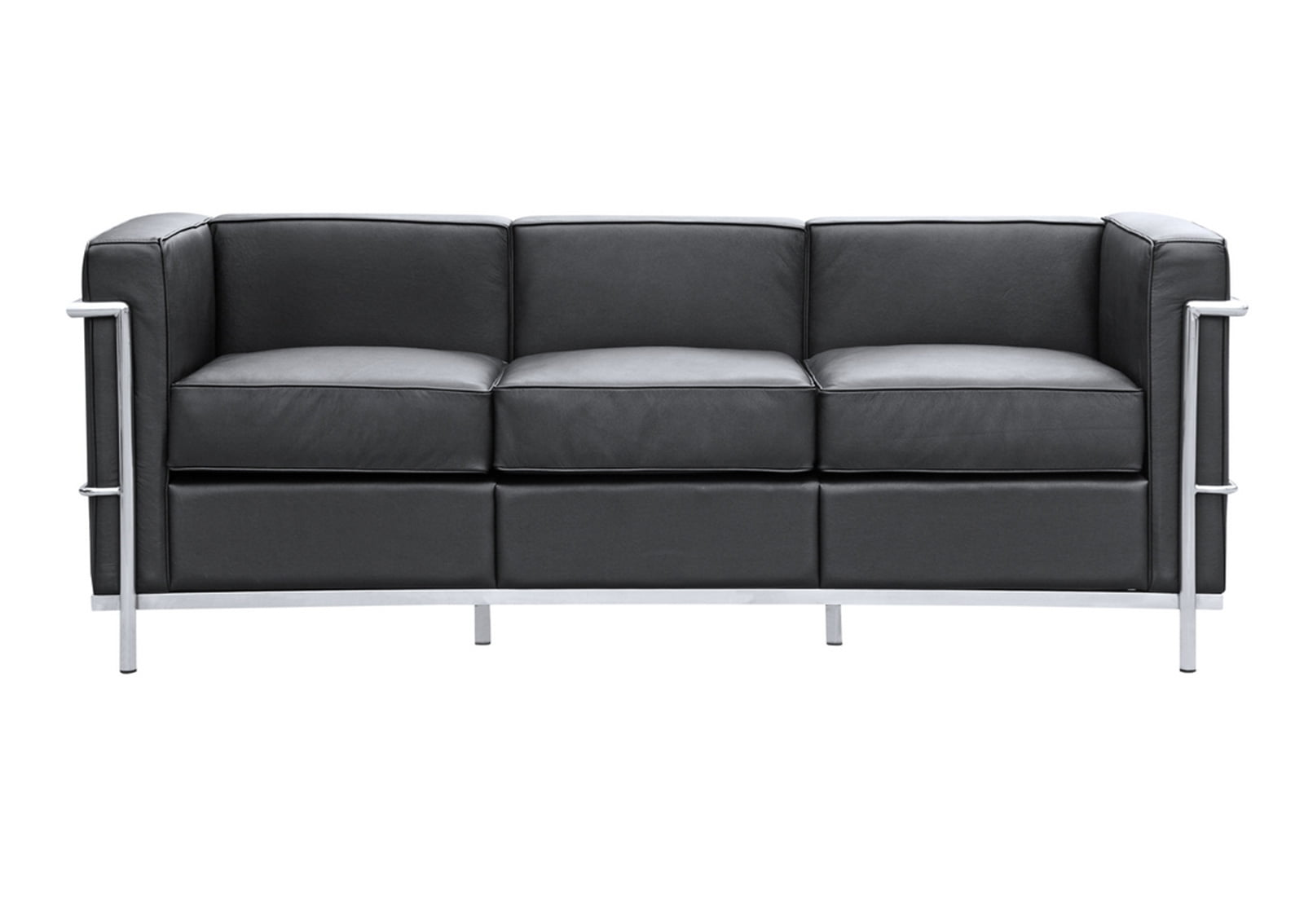 lc2 sofa le corbusier style furnishplus. Black Bedroom Furniture Sets. Home Design Ideas