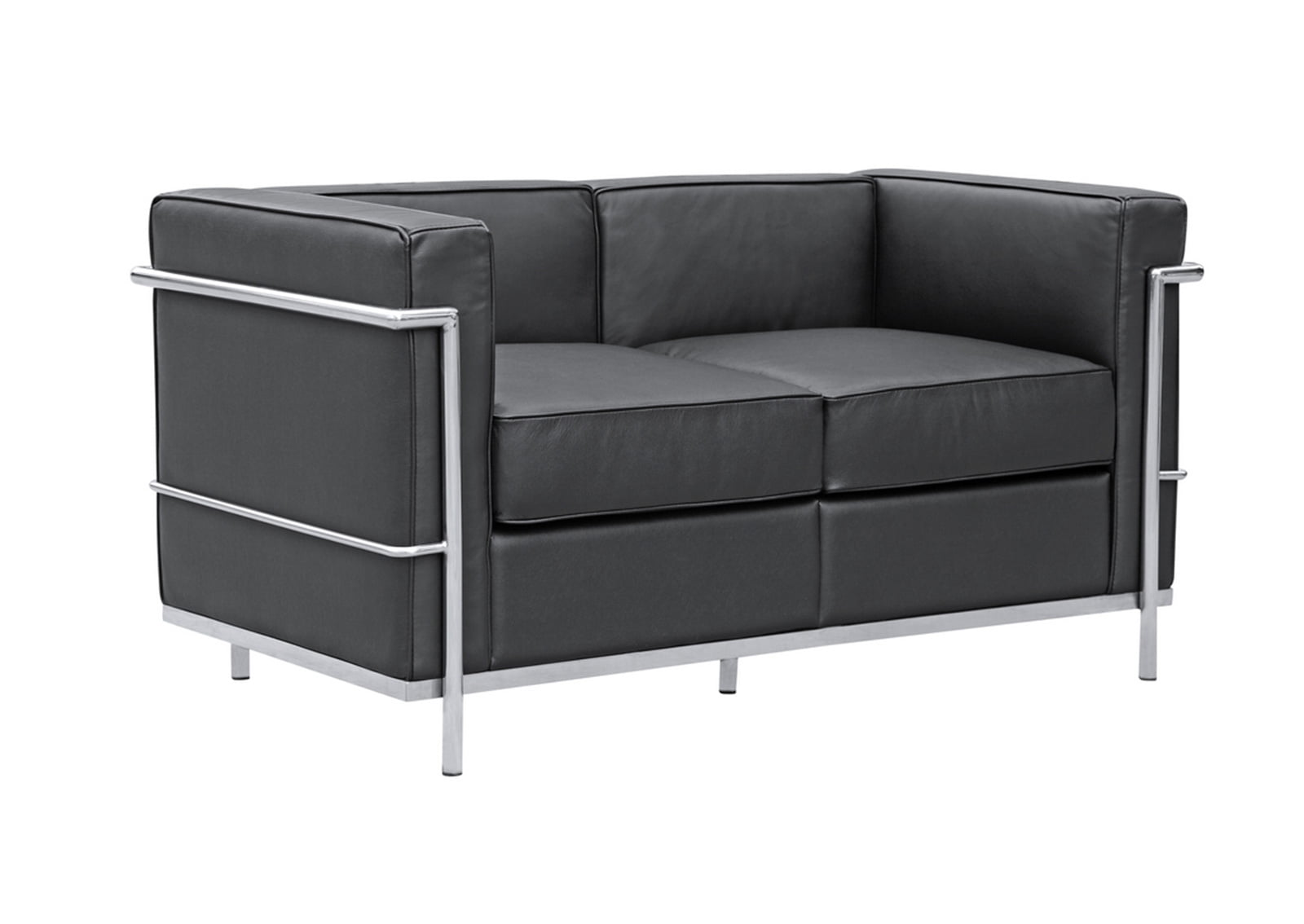 lc2 loveseat le corbusier style furnishplus. Black Bedroom Furniture Sets. Home Design Ideas