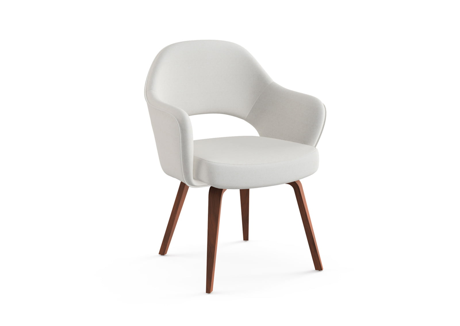 Saarinen Executive Armchair Wooden Legs Furnishplus