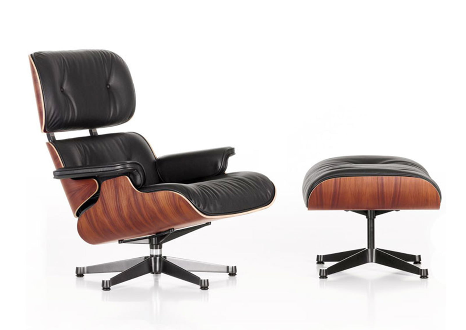 Eames Chairs | Eames Lounge Chair with Ottoman - FurnishPlus