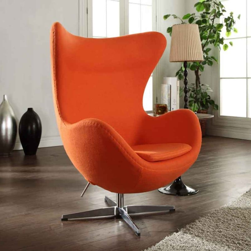 Egg Chair Accent Chairs.Furnishplus Leather Egg Chair Egg Chair Midcentury Armchairs And