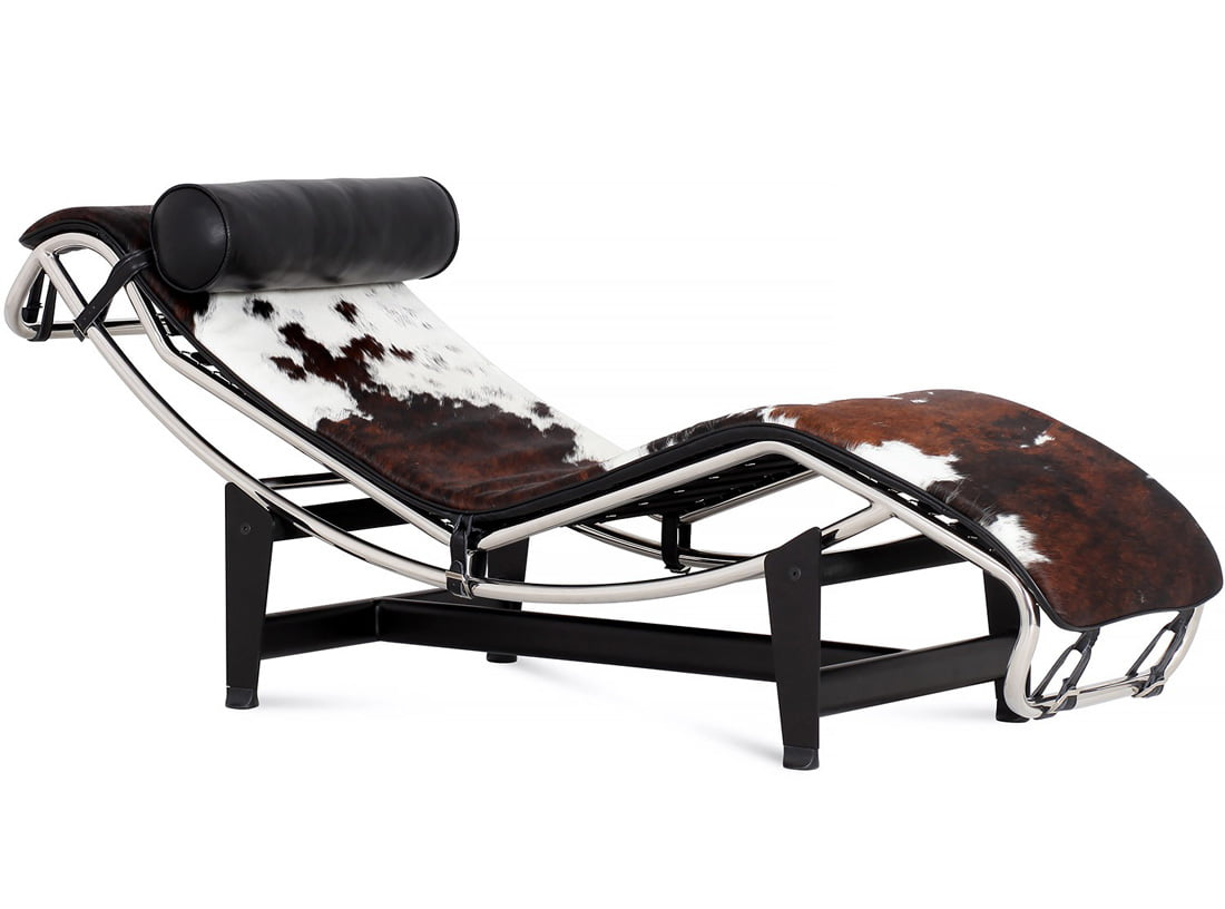 Lc4 chaise lounge le corbusier style furnishplus for Chaise longue le corbusier pony